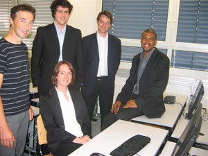 De gauche à droite : Michel Grevillot, Morgan Zeller, Mylène Dunand, Jean Freyburger, Grégoire Arnould