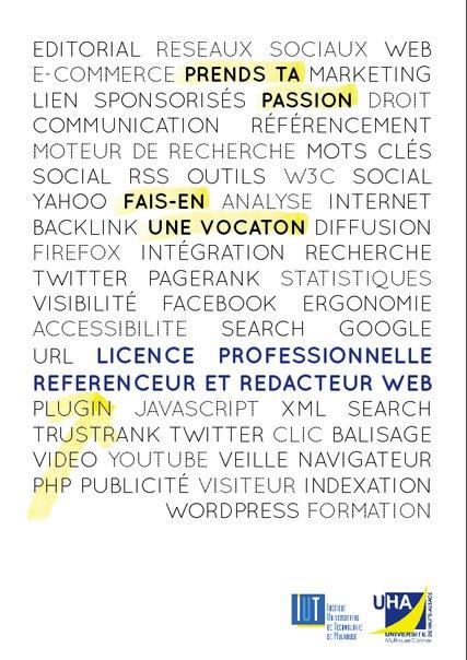 Flyer Licence Réferencement Rédaction Web