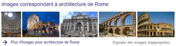 bloc images sur Google