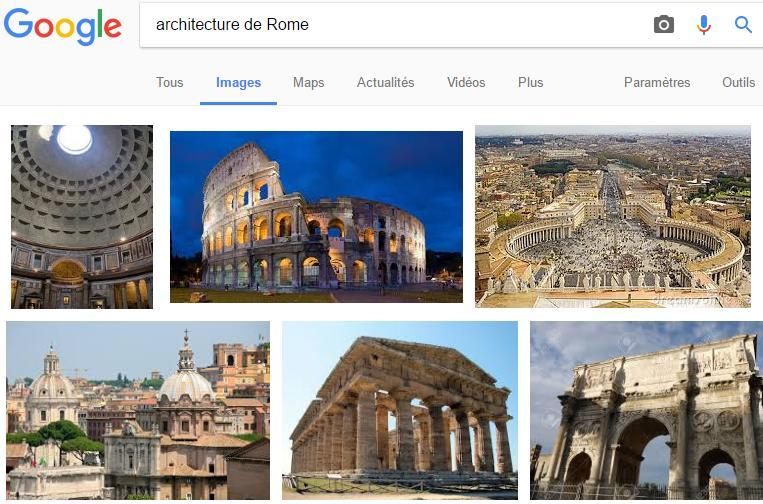 Résultats Google Images