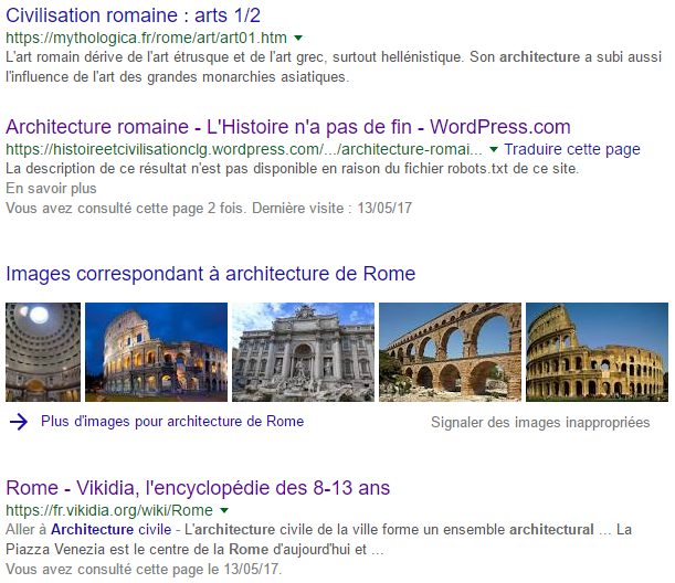 Résultats Web pour l'expression architecture de Rome