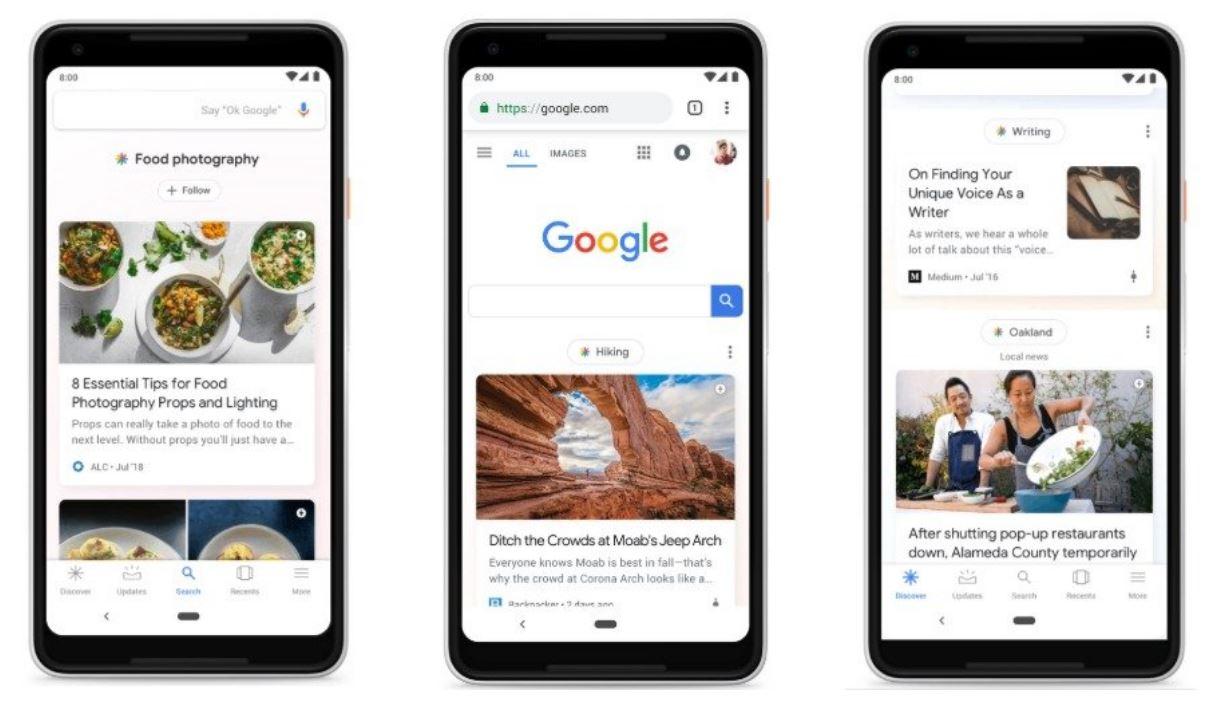 Cartes Google Discover