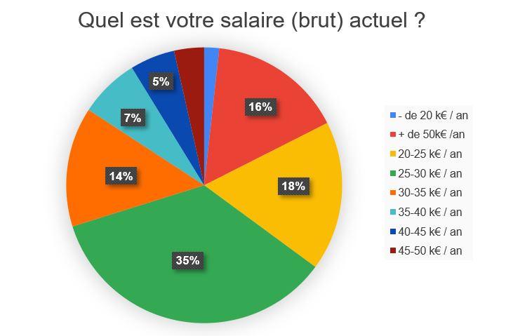Salaire actuel des anciens étudiants SEO