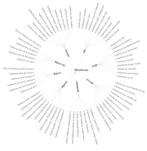 exemple de résultats sous forme de graphique avec l'outil SEO askingfranklin